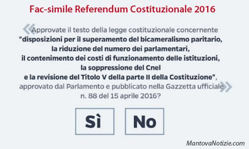 Esempio fac simile scheda referendum costituzionale 2016