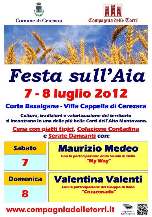 Festa sull'Aia 2012 Ceresara (Mantova), locandina programma