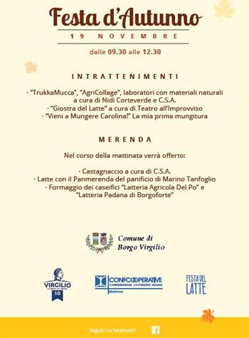 Festa Autunno 2016 Romanore Borgo Virgilio (MN)