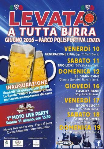 Festa della birra Levata di Curtatone (MN) 2016
