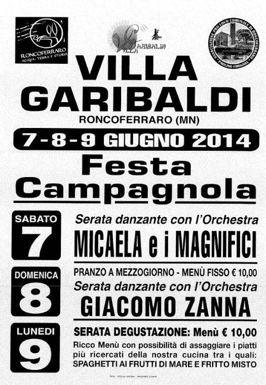 Festa Campagnola 2014 a Villa Garibaldi di Roncoferraro (MN)