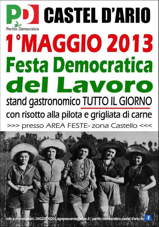 Festa Democratica del Lavoro 2013 Castel d'Ario (Mantova)
