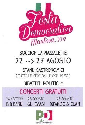 Festa PD Mantova 2012