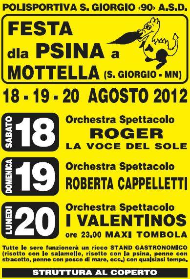 Festa dla Psina 2012 Mottella di San Giorgio di Mantova