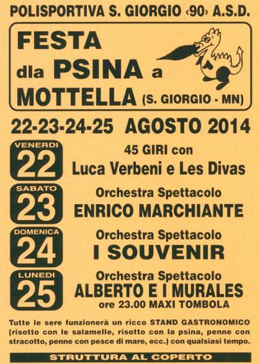 Festa dla Psina 2014 Mottella di San Giorgio (Mantova)