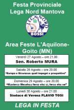 Festa Lega Nord Mantova a Goito
