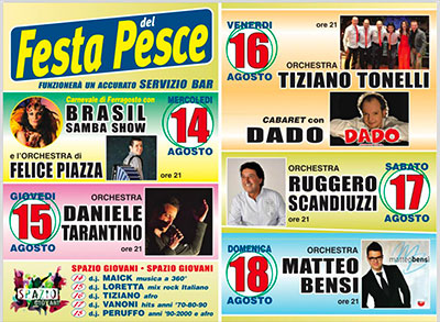 Orchestra Matteo Bensi Calendario.Festa Del Pesce 2019 Mariana Mantovana Mn Programma
