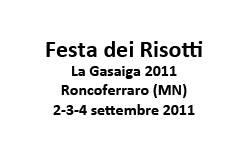 Festa Risotti Roncoferraro 2011