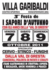 Festa Sapori Autunno 2011 Villa Garibaldi (Mantova)