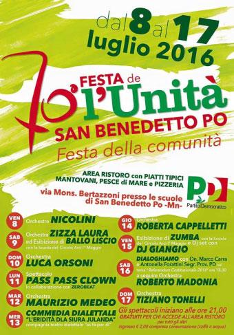 Festa dell'Unità San Benedetto Po 2016
