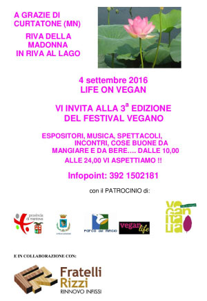Festival vegano Grazie di Curtatone 2016