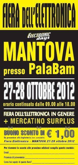 Electronic Days Mantova 2012 buono sconto biglietto ingresso