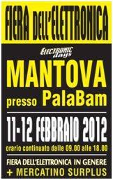 Electronic Days Fiera Elettronica Mantova 2012 Febbraio