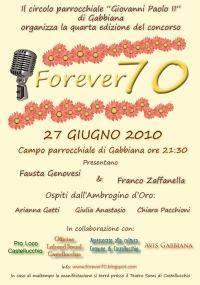 Concorso Canoro Forever 70 a Gabbiana