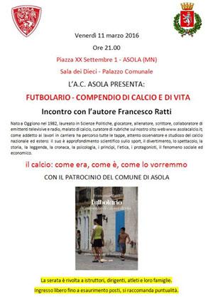Francesco Ratti Futbolario Asola (MN)