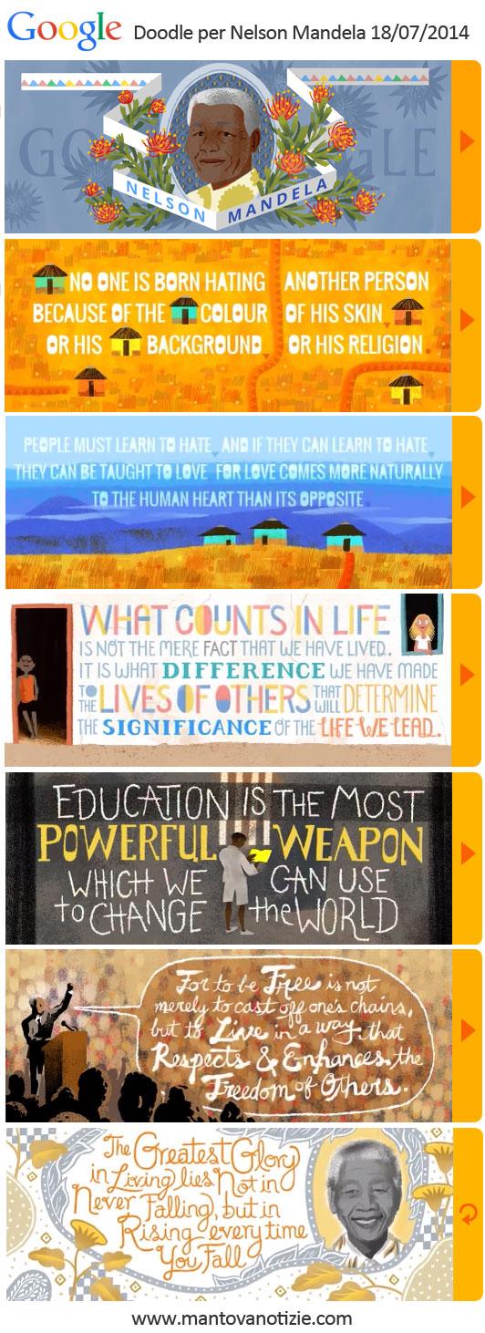 Nelson Mandela frasi Google Doodle