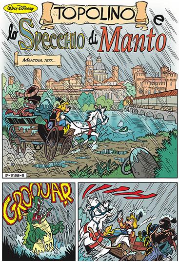 Fumetto Topolino e lo specchio di Manto, numero 3188 del 28 dicembre 2016