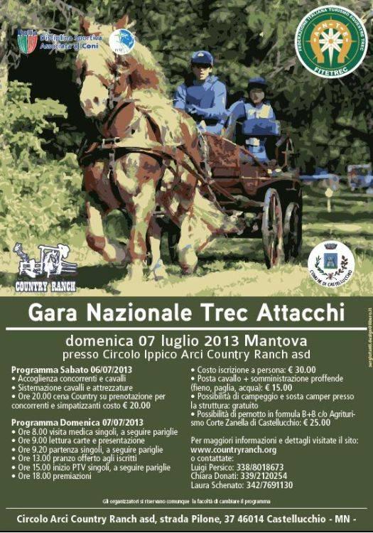 Gara Nazionale Trec Attacchi 2013 a Castellucchio (Mantova)