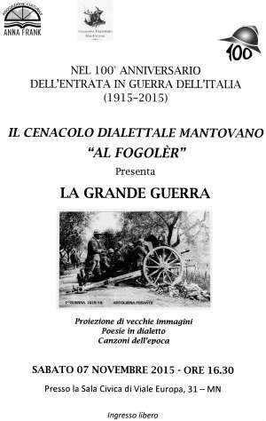 La Grande Guerra Mantova Al Fogolèr