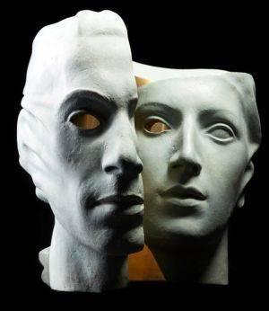scultura Il corpo e l'anima di Gianpietro Moretti
