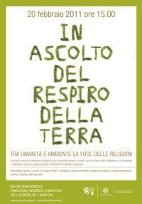 In ascolto del respiro della terra, Mantova 20/02/2011