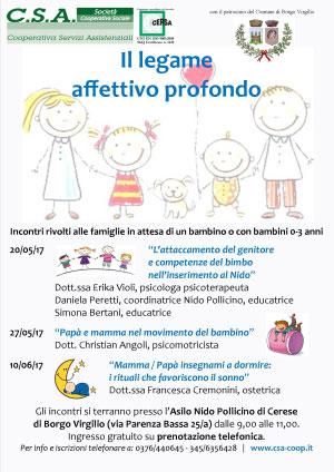 Incontri Nido Pollicino Cerese Borgo Virgilio 2017