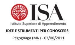 ISA Pegognaga (MN) - Idee e Strumenti per Conoscersi