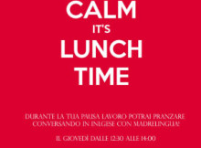 Keep calm it's lunch time conversazione inglese Porto Mantovano (MN)