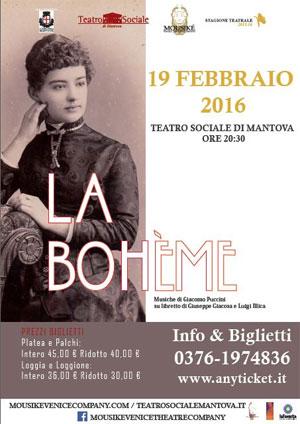 La Bohème Mantova Teatro Sociale 2016