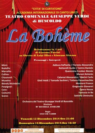 La Bohème Teatro Verdi Buscoldo (Mantova)