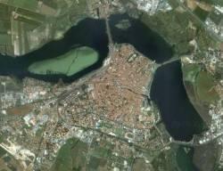 Laghi di Mantova (vista aerea)