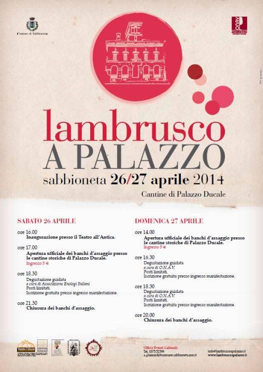 Lambrusco a Palazzo Sabbioneta 2014