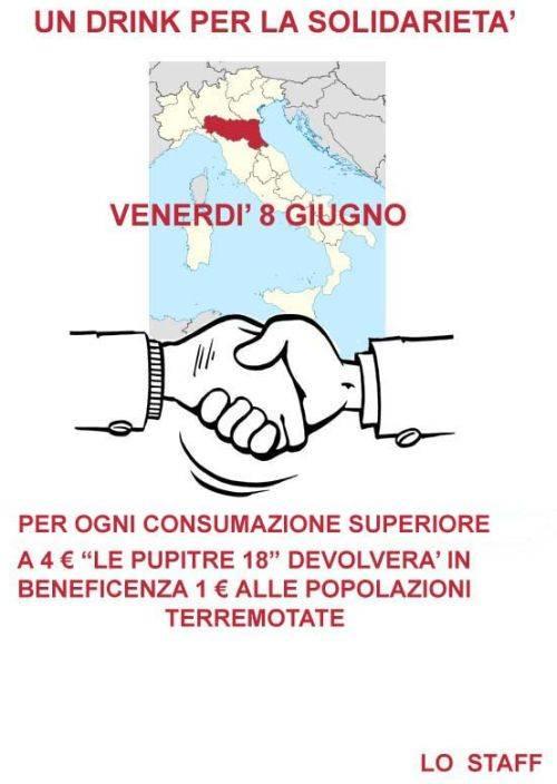 Le Pupitre 18 Mantova Drink per Solidarietà Terremoto Emilia Romagna 2012