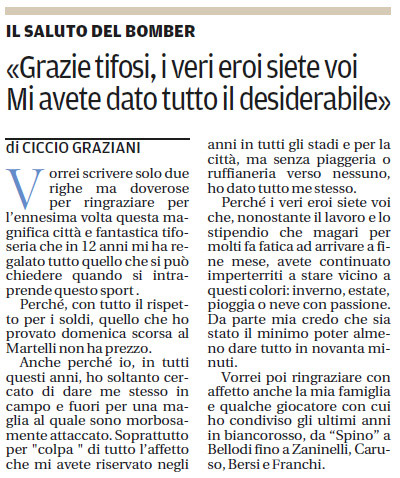 Lettera Gabriele Graziani Gazzetta di Mantova 14/06/2012