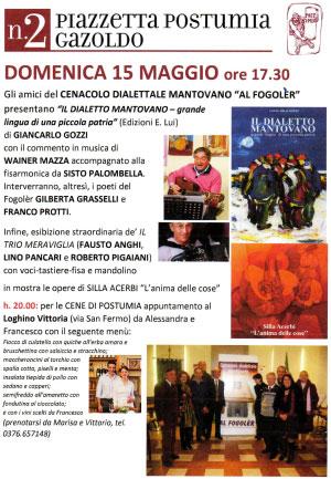 Libro dialetto mantovano Giancarlo Gozzi
