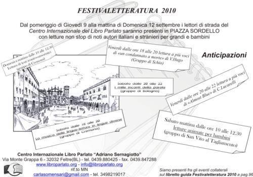 Libro Parlato Mantova Festival Letteratura 2010