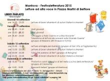 Libro Parlato Festivaletteratura 2015 Mantova