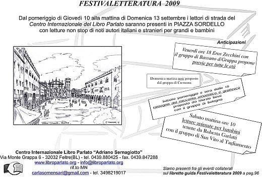 Libro Parlato al Festivaletteratura di Mantova