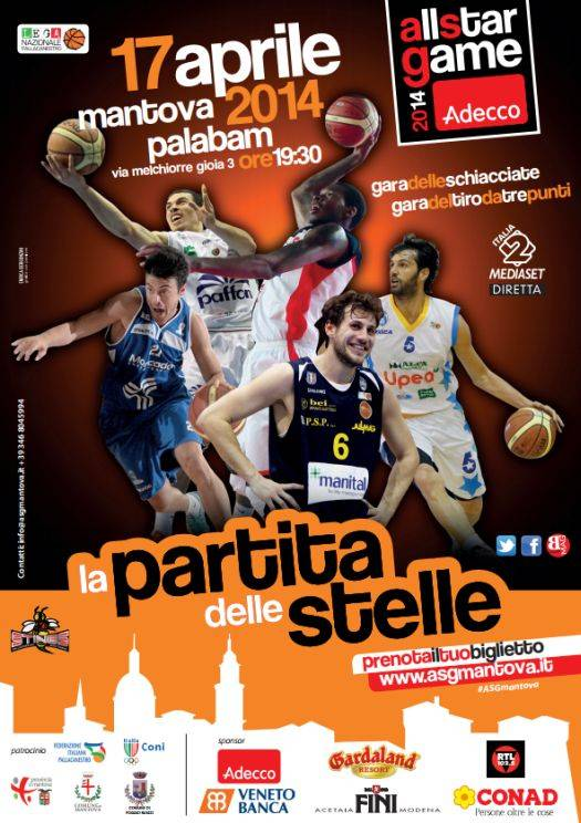 Locandina All Star Game Mantova 2014 Pallacanestro