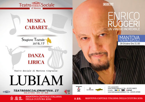 Locandina Enrico Ruggeri Teatro Sociale Mantova 2016