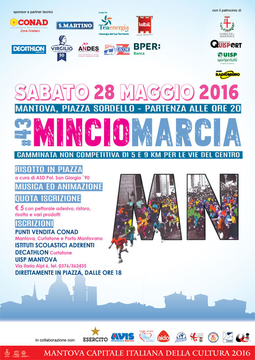 locandina Mincio Marcia 2016 Mantova