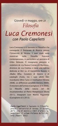 Luca Cremonesi, filosofo
