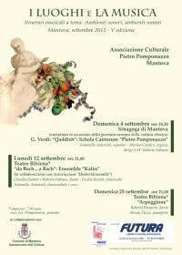 I Luoghi e la Musica Mantova 2011