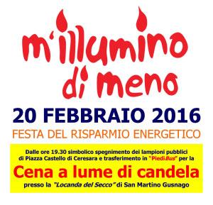 M'Illumino di Meno 2016 Ceresara (Mantova)