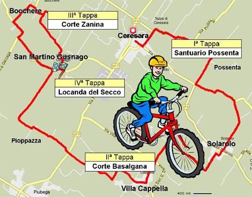 Percorso 2014 Mangialonga in Bicicletta a Ceresara (Mantova)