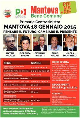 Mantova Bene Comune Primarie Sindaco 2015