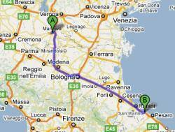 Cartina stradale Mantova - Cattolica