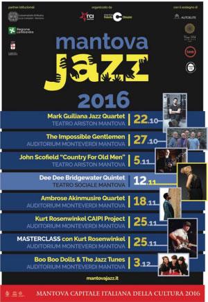Mantova Jazz 2016 programma concerti