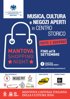 Mantova Shopping Night giovedì 2016