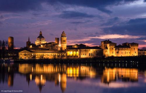 "Mantova, veduta all'imbrunire"", di Luigi Diego Di Donna"